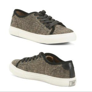 Frye NIB Black/Cream GIA Low Canvas Sneakers
